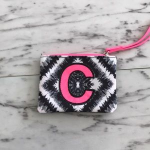 """Justice  """"C"""" crossbody bag and wristlet"""